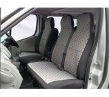 Mercedes Sprinter  van seat covers 155 cloth seating fabric one single one double 2000 - 2005 model