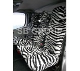 Peugeot Partner Van Seat Covers Zebra Faux Fur Fabric