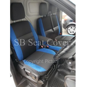 Ford Transit Custom Van Seat Covers Anthracite Blue