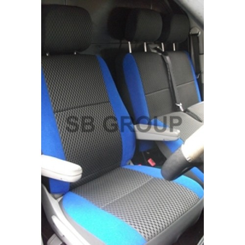 2+1 RED SINGLE /& DOUBLE SEAT /& ARMREST COVERS FOR VAUXHALL VIVARO RENAULT TRAFIC