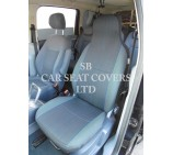 VW Transporter T5 Van Seat Covers - Yaro Blue Fleck