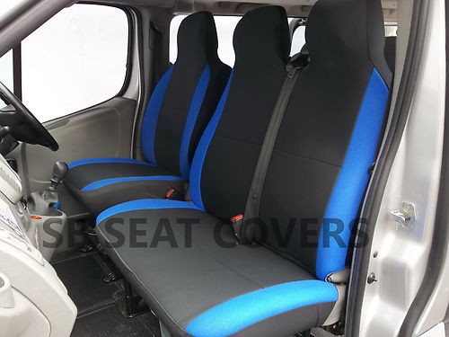 Mercedes Vito Van Seat Covers Anthracite Alcantara Blue