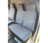 VW Transporter T6 Van Seat Covers - Anthracite Grey