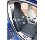 Citroen Berlingo Van Seat Covers - Anthracite + Leatherette Trim
