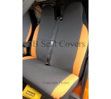 VW Crafter Van Seat Covers Anthracite Fabric + Orange Bolsters
