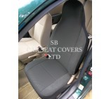 VW Transporter T5 Van Seat Covers - Anthracite Fabric Cloth