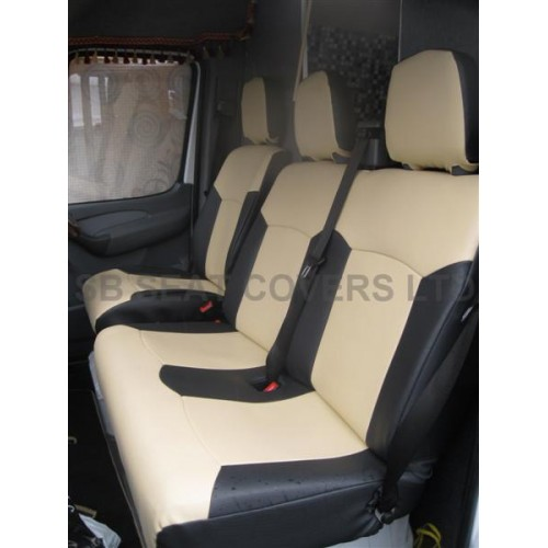 VW Transporter T5 9 seater mini bus seat cover - Beige leatherette