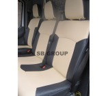 Mercedes Sprinter Van Seat Covers Beige Leatherette - made to measure (2000 to 2005)