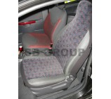 Ford Escort van seat covers in brick fabric - 2 fronts