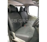 Fiat Ducato Van Black Leatherette Seat Covers Made To Measure