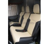 Ford Transit van seat covers 00-05 model custom fit beige and black  leatherette 1 single and 1 double