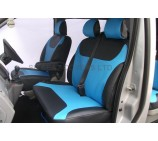 Renault Trafic 9 seater mini bus seat cover - Blue leatherette made to measure set - VSC903