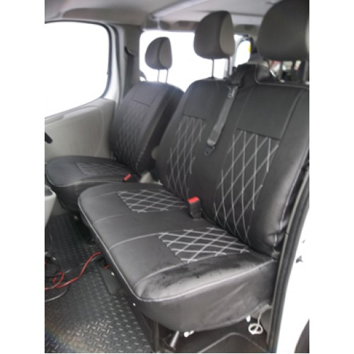 FORD TRANSIT VAN 2006-2013 TAILORED FABRIC SEAT COVERS MADE TO MEASURE TAILORED