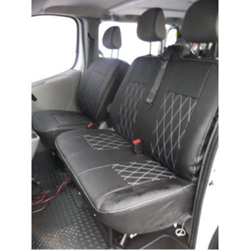 Vw Transporter T5 Van Seat Covers Leatherette Bentley Diamond