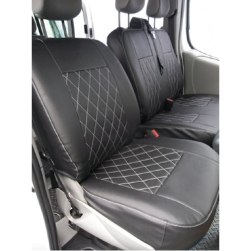 VW Transporter T5 Van Seat Covers Leatherette Bentley Diamond