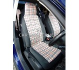 Peugeot Partner Van Seat Covers - Burberry 2 Fronts