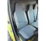 Peugeot Boxer van seat covers Charlton Grey Suede single and double