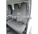 VW Transporter T6 Van Seat Covers - Ebony Black