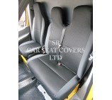 VW Transporter T6 Van Seat Covers - Ebony Sports Mesh