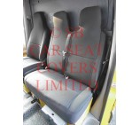 VW Transporter T4 van seat covers Emporium Black cloth fabric