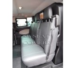 Ford Transit Custom Crew Cab - Seat Covers - Made to Measure - Leatherette Black