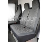 Renault Traffic van seat covers - grey retro cloth fabric