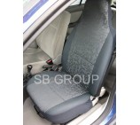 Suzuki Carry van seat covers in grey retro - 2 fronts