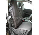 VW Transporter T5 van seat covers deluxe waterproof black - 2 fronts