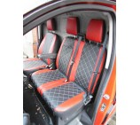 Ford Transit Custom Van Seat Covers - Executive Diamond Red