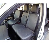 Ford Transit Custom 9 seater mini bus seat covers - black leatherette made to measure set