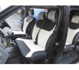Vauxhall Vivaro 9 Seater Minibus Van (2010 - 2014) Seat Covers - Cream/Black Leatherette - Made to Measure Set