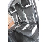 Renault Trafic Van (2014 - 2016) Seat Covers - Rossini Bentley Diamond Grey & Black