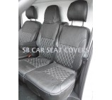 Renault Trafic Van 2014 Onwards Seat Covers - Rossini Bentley Diamond Black