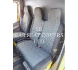 VW Transporter T6 Van Seat Covers - Retro Grey