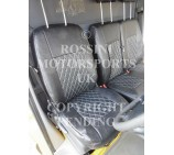 Mercedes Sprinter 2006 Onwards Van Seat Covers - Rossini Diamond Stitch Black