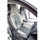 Nissan Primastar Crew Cab Van Seat Covers - YS 03 Rossini Sports Grey & Black