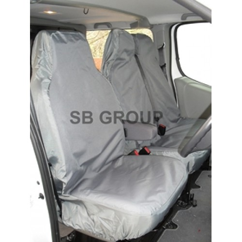 Vauxhall Movano 2010 Tailored Waterproof Grey Rear Chassis Cab Seat Covers