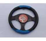 Ford Transit Van Steering Wheel Cover SWC P24 M Blue / Black Leatherette - 14.5 inches - Medium