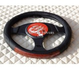 VW Transporter T5 Van Steering Wheel Cover SWC 29 Mahogany Leather Trim - Medium