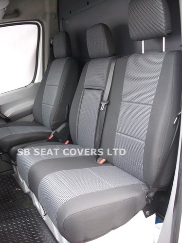 mercedes sprinter van seat covers made to measure mercedes anthracite original fabric 2012 model. Black Bedroom Furniture Sets. Home Design Ideas