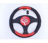 VW Transporter T5 Van Steering Wheel Cover SWC 12M Red + Black Buck Leather