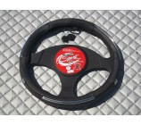 Ford Transit Van steering wheel cover Black Leather - SW16M