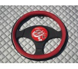 Ford Transit Van steering wheel cover Red Leatherette - SWC P1