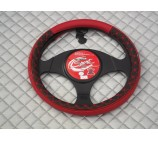 Ford Transit Van steering wheel cover Quilted Leatherette - SWC P2 M