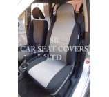 VW Transporter T5 Van Seat Covers - Titanium Grey - 2 Fronts
