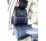 VW Transporter T5 2 Seater Van Seat Covers - YS 01 Rossini Black 2 Fronts (a pair)