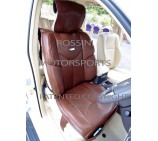 VW Transporter T5 2 Seater Van Seat Covers - YMDX 02 Rossini Brown 2 Fronts (a pair)