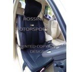 VW Transporter T5 2 Seater Van Seat Covers - YMDX 06 Rossini Black 2 Fronts (a pair)