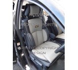 VW Transporter T4 2 Seater Van Seat Covers - YS 07 Rossini Grey 2 Fronts (a pair)