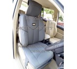 VW Transporter T5 2 Seater Van Seat Covers - YMDX 05 Rossini Grey 2 Fronts (a pair)